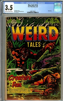 Blue Bolt Weird Tales #118