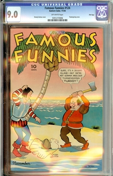 Famous Funnies #124